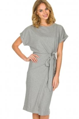 ba&sh | Overslag jurk Clare | Grijs
