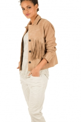Suede jacket | brown