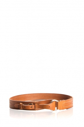 Antik Batik |  Leather waist belt Tyrii | camel