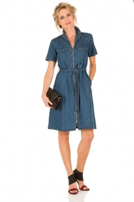Set | Denim jurk Debby | blauw