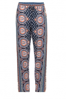 Hale Bob |  Printed wide leg pants Micci | blue