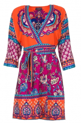 Hale Bob |  Printed wrap dress Fus | multi