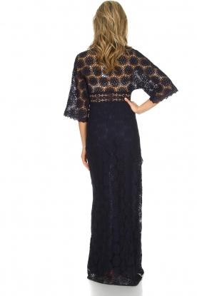 ba&sh | Kanten jurk Lorraine | Blauw