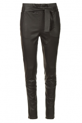 STUDIO AR |  Lamb leather paperbag pants Lotte | black