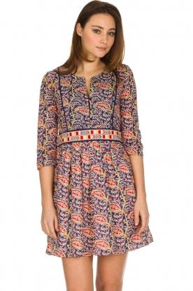 ba&sh   100% katoenen jurk Rius   blauw