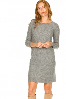 Knit-ted |  Knitted dress Nancy | grey