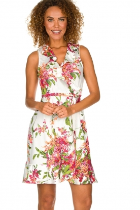 Hale Bob | Dress with floral print Flora | pink