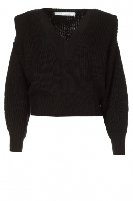 IRO |  Sweater with shoulder pads Misty | black