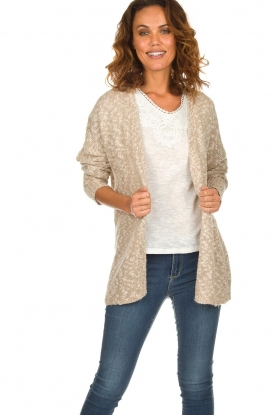 Knit-ted |  Cardigan Abigail | brown