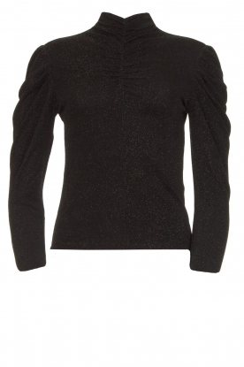 IRO | Turtleneck top with lurex Livanda | black
