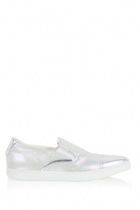 SVNTY |  Leather Slip-on Georgie | silver