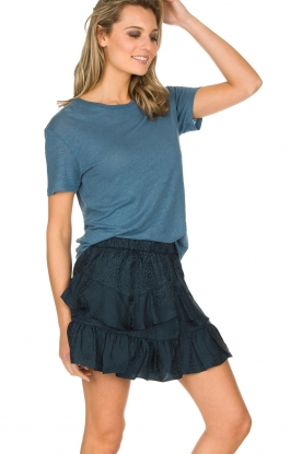 IRO | 100% zijden rok Faklie | donkerblauw