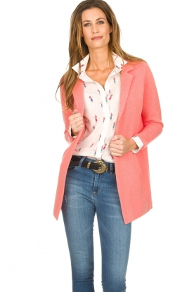 Knit-ted |  Cardigan with blazer details Sammie | pink