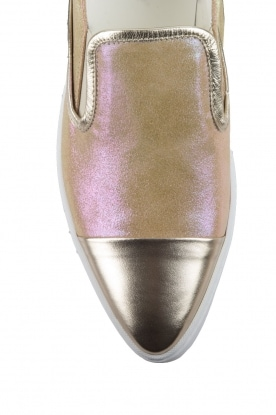 Leather Slip-on Georgie | gold
