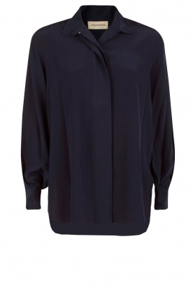By Malene Birger |  Silk blouse Alukina | blue