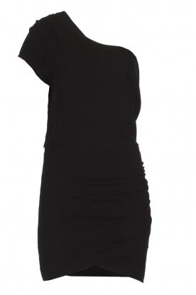 IRO | Asymmetrische jurk Davovo | zwart