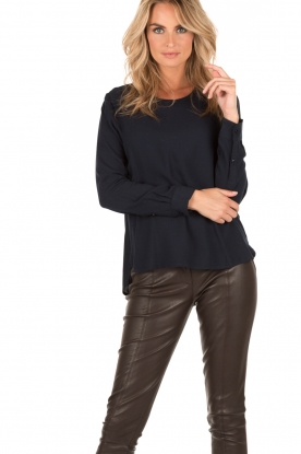 Knit-ted | Top Paula | donkerblauw