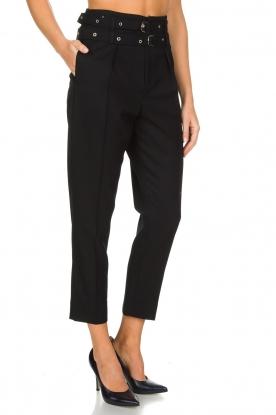 IRO | Pantalon met twee riemen Lana | zwart