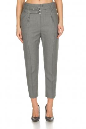 IRO | Pantalon met twee riemen Lana | Grijs
