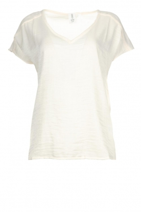 Knit-ted |Shimmering T-shirt Milou | white