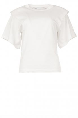 IRO |T-shirt with shoulder details Belly | white