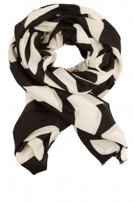 By Malene Birger | Wollen sjaal Avantgard | zwart/wit