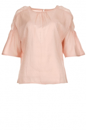 Knit-ted |  Top with polkadot pattern Nadesh | pink
