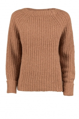 Heavy knitted sweater Daphne | brown