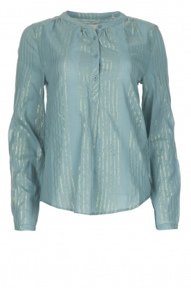 Lolly's Laundry | Blouse Singh | blauw