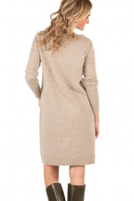 Knit-ted | Gebreide jurk Roos | sand