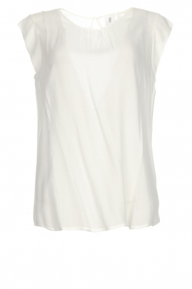 Knit-ted |  Top with tiny pleats Fay | white