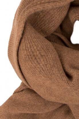 Knit-ted | Fijngebreide sjaal Sam | bruin