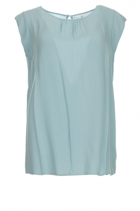 Knit-ted |  Top with tiny pleats Fay | mint green