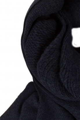 Knit-ted |  Fine knitted scarf Sam | dark blue
