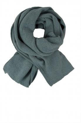 Knit-ted | Fijngebreide sjaal Sam | blauw