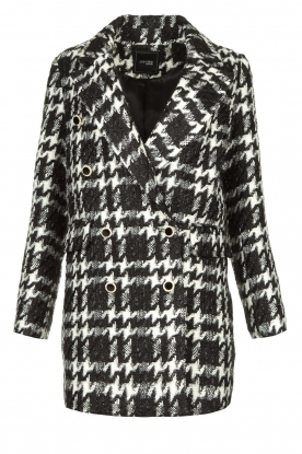 Fracomina |  Pied de poule coat Barbie | black