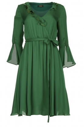 Fracomina |  Dress with ruffles Mary | green