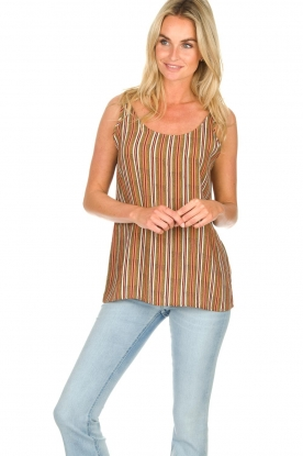 Knit-ted |  Striped top Gwen | multi