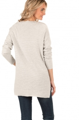 Knitted sweater Jolie | light grey