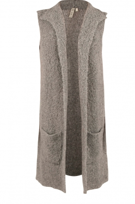 Knit-ted |  Knitted waistcoat Adele | grey