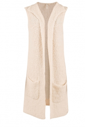 Knit-ted | Gebreid gilet Adele | off-white