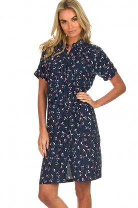 Knit-ted |  Dress with floral print Gigi | navy
