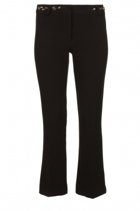 Fracomina |  Trousers with rhinestones Allessandra | black
