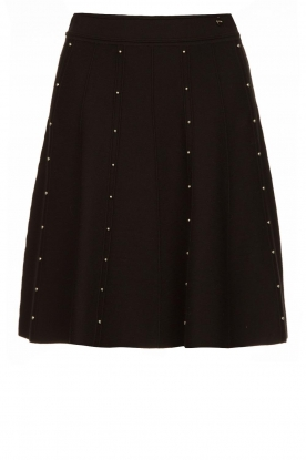 Fracomina |  Studded skirt Round | black
