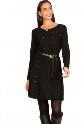 Fracomina |  Studded skirt Round | black