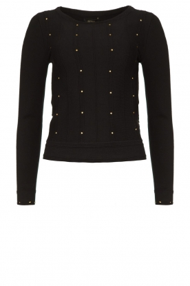 Fracomina | Studded sweater Round | black