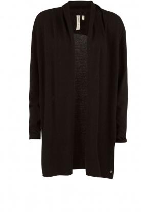 Knit-ted | Fijngebreid vest Alicia | zwart