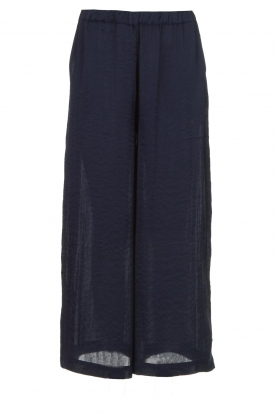 Knit-ted |  Shiny wide pants Vonda | navy