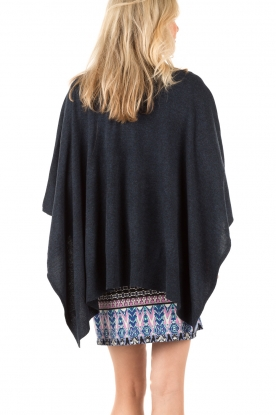 Knit-ted | Poncho Tara | blauw