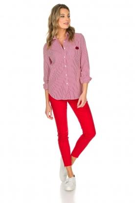 Essentiel Antwerp | Gestreepte blouse Paksoi | rood